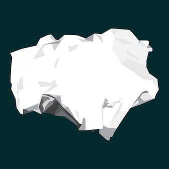 Ilustração de papel amassado plana em branco