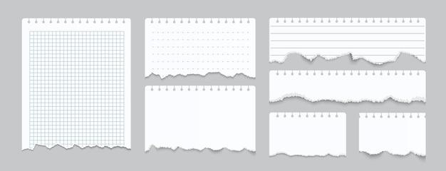 Ilustração de papel de caderno rasgado