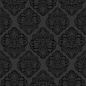 Ilustração de papel de parede vitoriana escuro fundo oriental