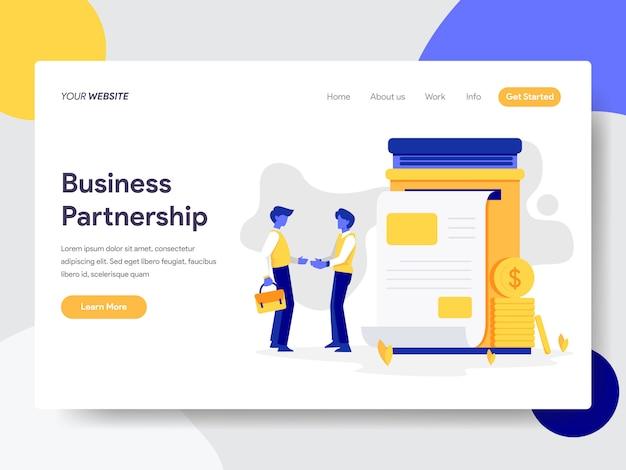 Ilustração de parceria de negócios