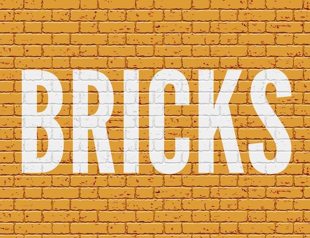 Ilustração de parede grunge com tijolos
