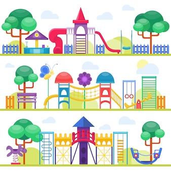 Ilustração de parque infantil.