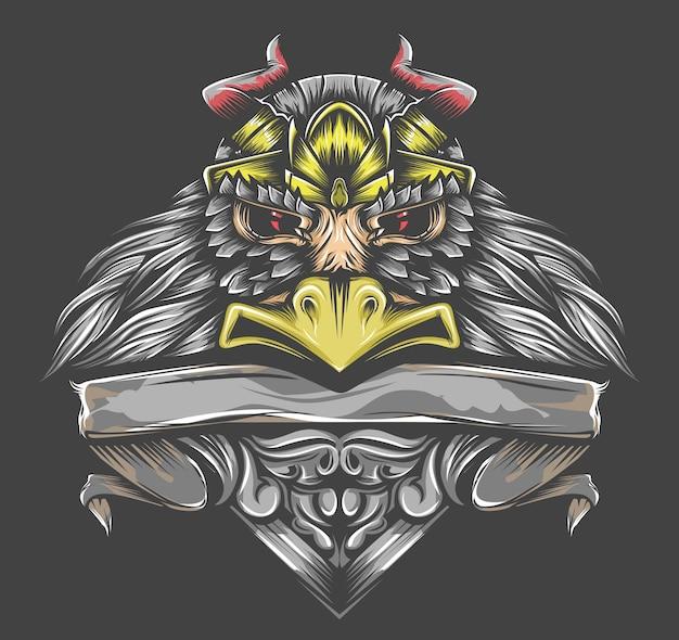 Ilustração de pássaro rei