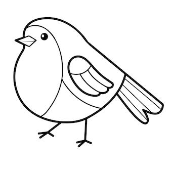 Ilustração de pássaros para colorir