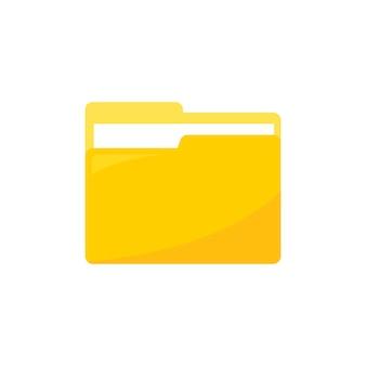 Ilustração, de, pasta dados, ícone