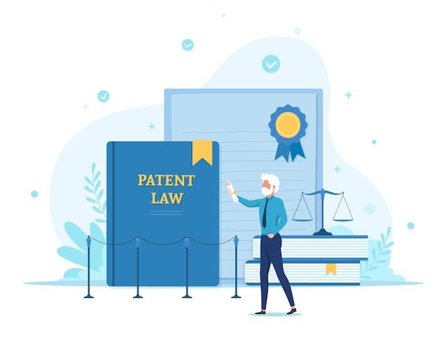 Ilustração de patente de copyright