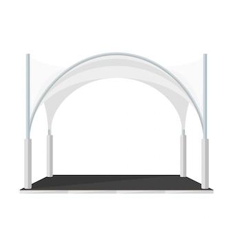 Ilustração de pavilhão de tenda dobrável