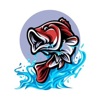Ilustração de peixe handdrawn