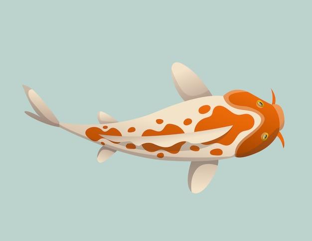 Ilustração de peixe koi japonês