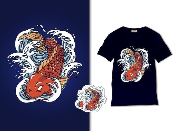 Ilustração de peixe koi