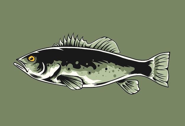 Ilustração de peixe walleye