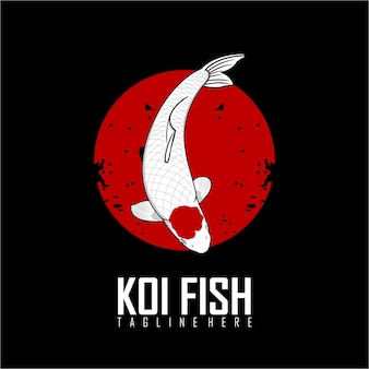 Ilustração de peixes koi