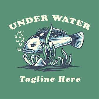 Ilustração de peixes na água