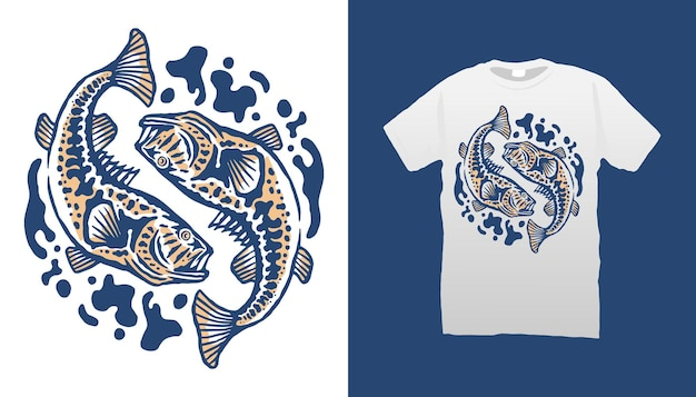 Ilustração de peixes