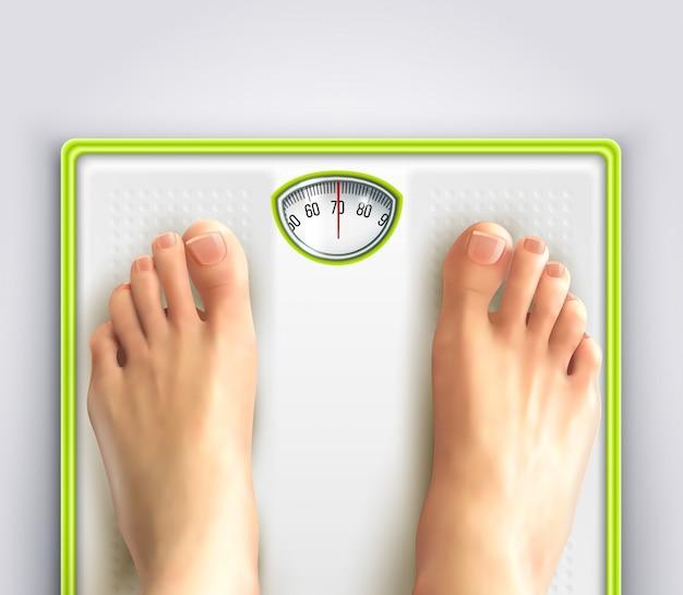 Ilustração de perda de peso de mulher