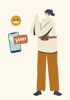 Ilustração de perdão, relações humanas