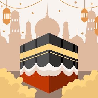 Ilustração de peregrinação hajj
