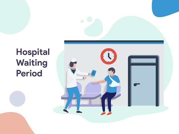 Ilustração de período de espera de hospital