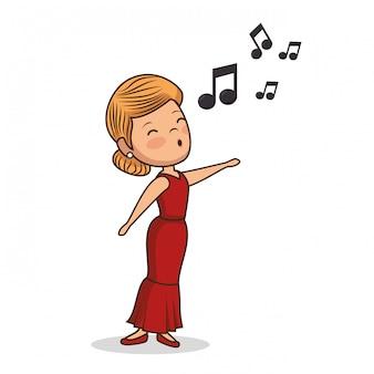 Ilustração de personagem bela dama