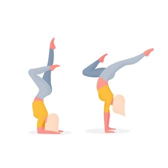 Ilustração de personagem de avatar de ioga