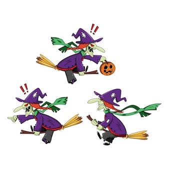 Ilustração de personagem de bruxas