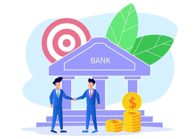 Ilustração de personagem de desenho vetorial gráfico de economia de dinheiro