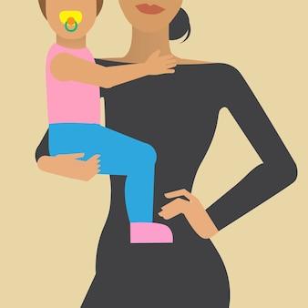 Ilustração de personagem de estilo de vida de mulher