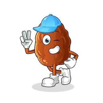 Ilustração de personagem de fruta jovem