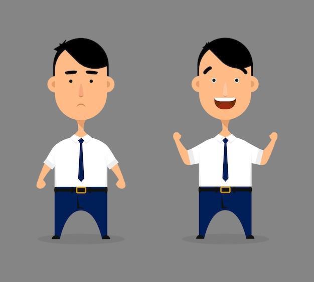 Ilustração de personagem de homem de escritório.