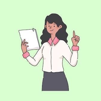 Ilustração de personagem de mascote de instrutor de tutorial on-line