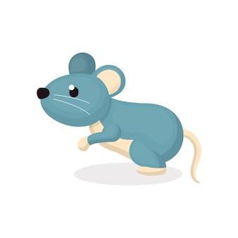 Ilustração de personagem de rato bonitinho com estilo cartoon