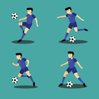 Ilustração de personagem jogador de futebol