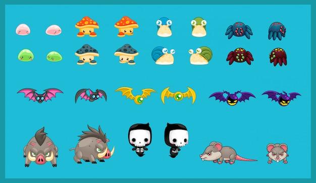 Ilustração de personagem pequeno monstro