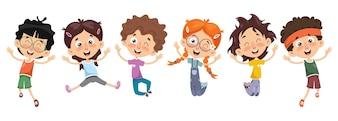 Ilustração De Personagens De Desenhos Animados