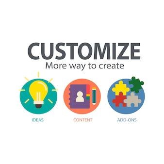Ilustração de personalizar o serviço