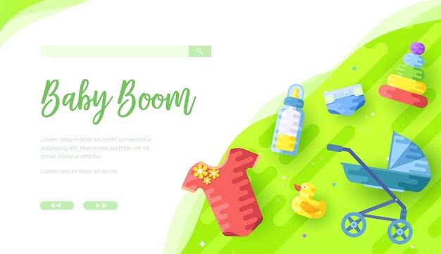 Ilustração de pertences de bebê