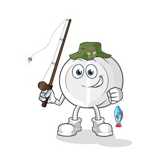 Ilustração de pescador medicinal