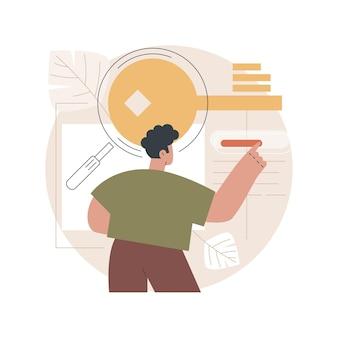 Ilustração de pesquisa de palavra-chave