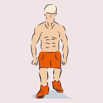 Ilustração de pessoa corpulenta