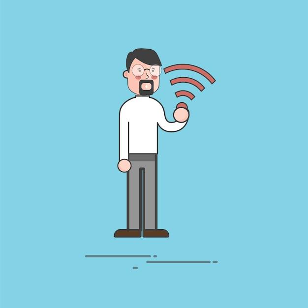 Ilustração, de, pessoas, avatar