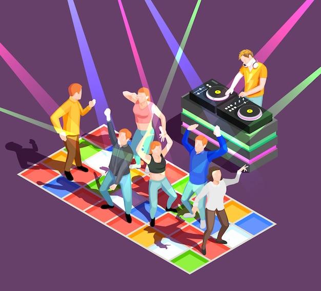 Ilustração de pessoas dançando