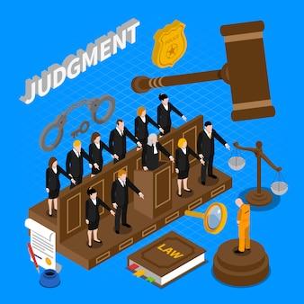 Ilustração de pessoas de julgamento