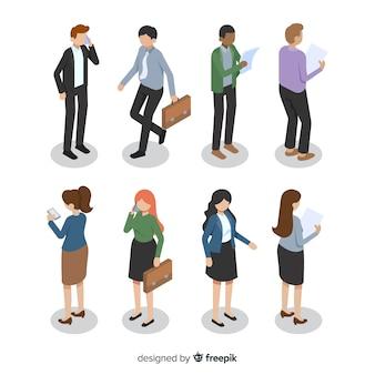Ilustração de pessoas de negócios diferentes ângulos