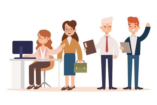 Ilustração de pessoas de negócios
