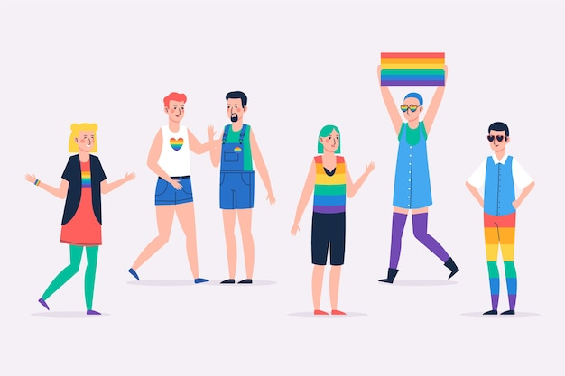 Ilustração de pessoas do dia do orgulho