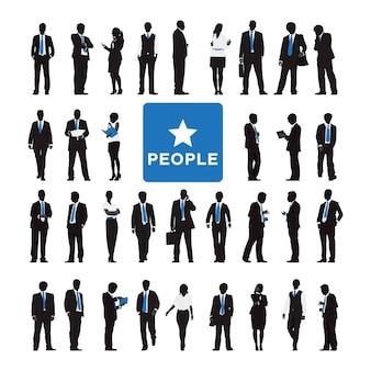 Ilustração, de, pessoas negócio