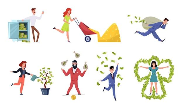 Ilustração de pessoas ricas
