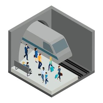 Ilustração de pessoas subterrâneas