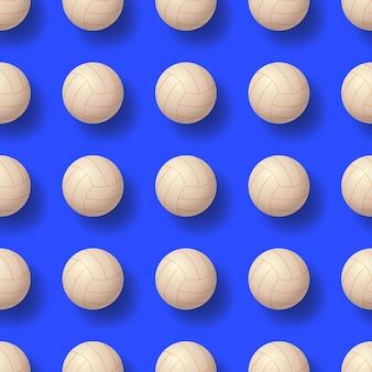 Ilustração de pettern sem costura de bola de vôlei