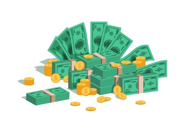 Ilustração de pilha de dinheiro